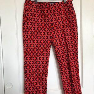 Boden crop flat front pants sz 6p